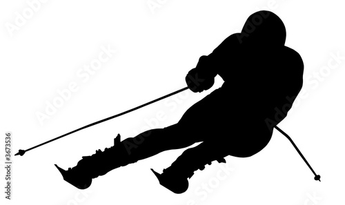 Fotografía  Silhouette of a skier. Sports. Winter. Snow. Extreme.