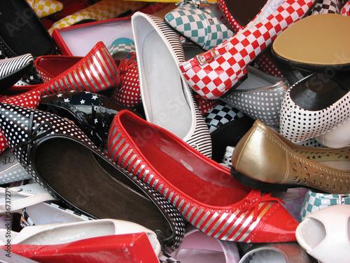 Chaussures  kitsch Canvas Print