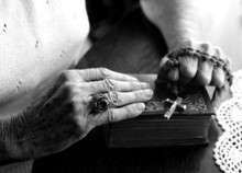 Elderly Woman's Hands Holding ...