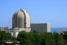 Nuclear Power Plant By The Sea In Vandellos (Tarragona, Spain)