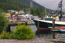 Boats In Ketchikan, Alaska Harbor