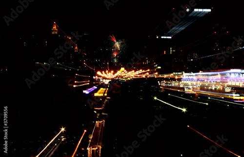 Staande foto Las Vegas Night street