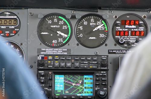 Valokuva  Flugzeugcockpit