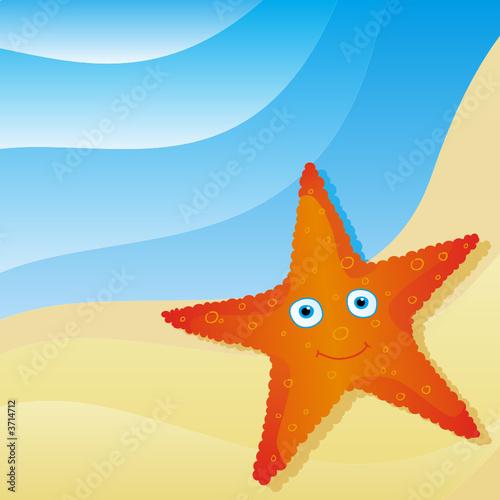 Foto-Stoff - cute little starfish (von Ivana Rauski)