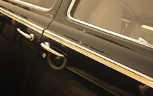 Doors Of Vintage Car Sepia Toned