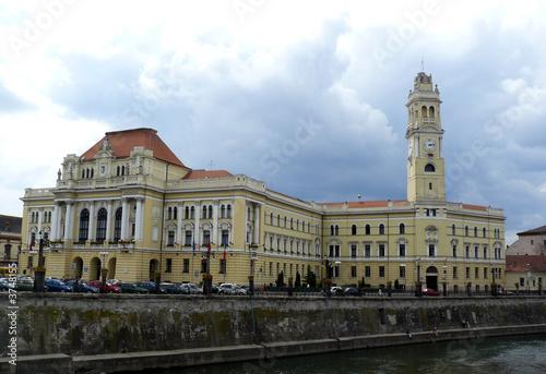 Spoed Foto op Canvas Theater City Goverment Building - Oradea