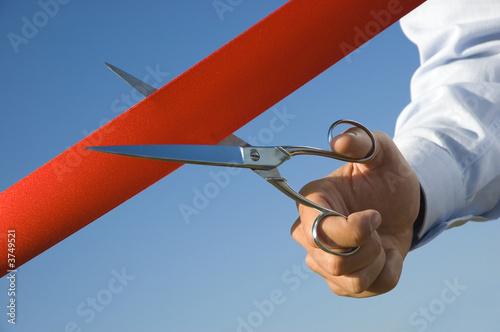 Fotografía  Cut of the red ribbon