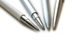 Four pens isolated on the white background