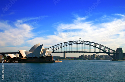Sydney Opera House and Harbour Bridge.. Wallpaper Mural