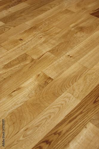 Fototapeta view of an oak floor just put in oil obraz na płótnie