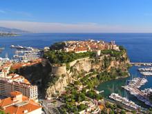Majestic View Of The Castle In Monaco