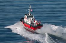 Pilot Boat Speeding Away From ...