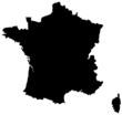 Carte de France noire