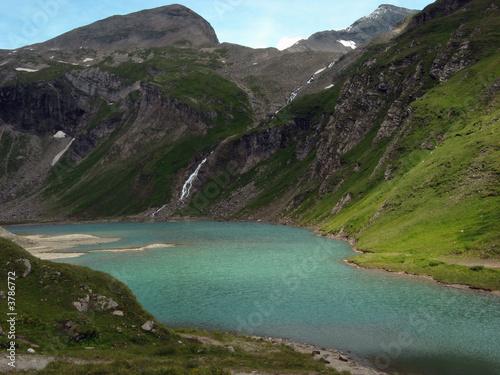 Spoed Foto op Canvas Eiland Gletschersee 1