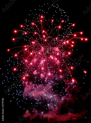 Feu d'artifice Canvas Print