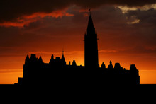 Canadian Parliament Ottawa At Sunset