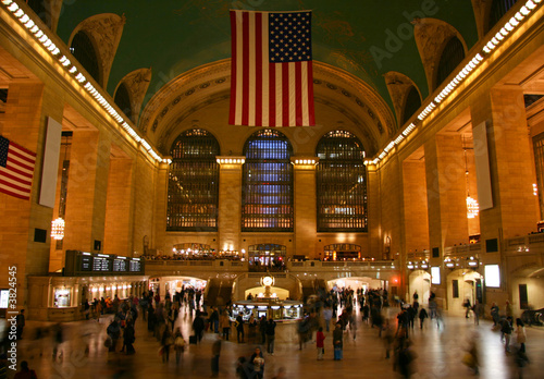 Photo  New York Grand Central Station main hall