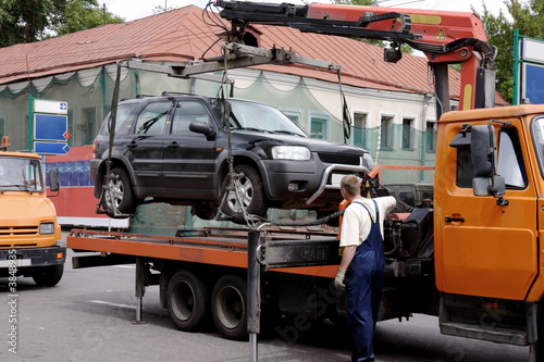 Photo towing of illegally parked car