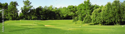 Cadres-photo bureau Pistache Panorama di campo da golf