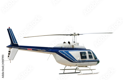 Foto op Canvas Helicopter Isolated helicopter