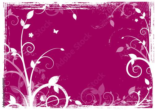 Papiers peints Grenat Fond grunge floral design