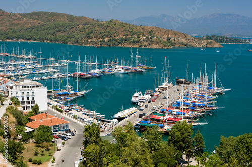 Aluminium Prints Turkey Fethiye Harbour, Turkey