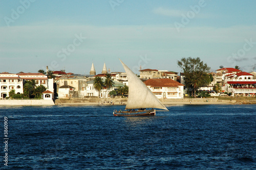Fotobehang Zanzibar View of Zanzibar