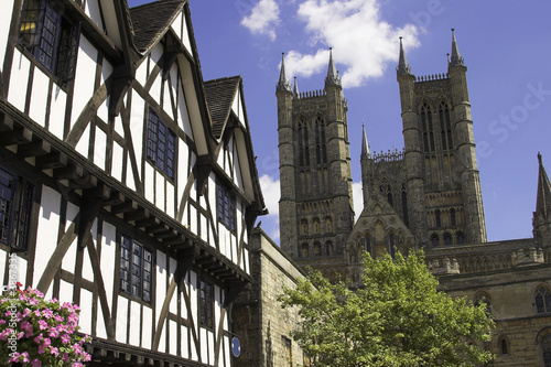 Fotografia  Lincoln Cathedral in the historic city of Lincoln, England, U.K.