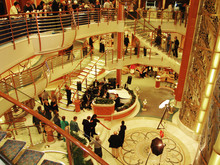 Cruise Ship Interior Indoors With People