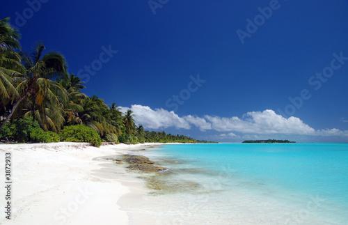 Foto-Schiebegardine Komplettsystem - Tropischer Strand
