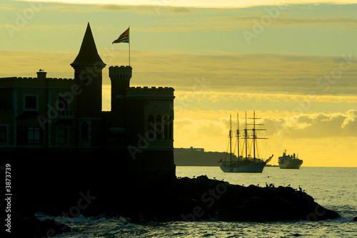 Canvas Prints Ship Atardecer