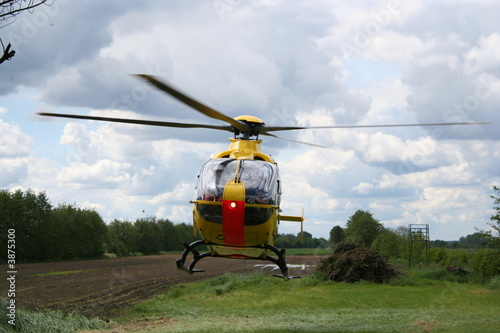 Canvas Prints Helicopter Start