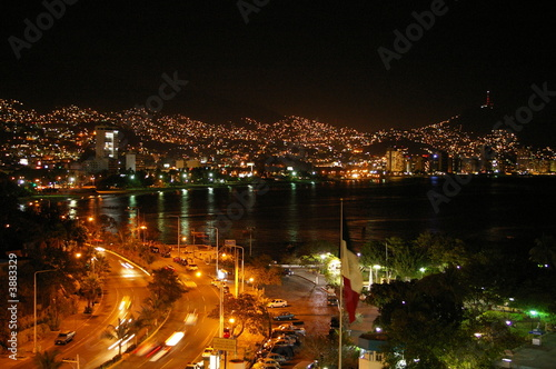 Acapulco By Night Fototapet