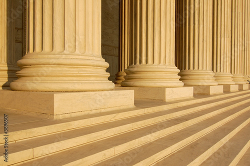 Columns at United States Supreme Court Building Poster