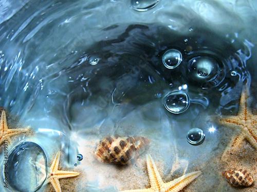Foto-Schiebegardine Komplettsystem - Meeresgrund