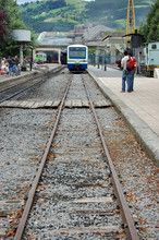 Regional Train Parked In A Station