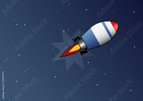Garden Poster Cosmos Razzo nello spazio