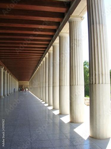 Foto Les colonnades de la Stoa d'Attale