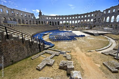 Fotografie, Obraz The center of the Pula Coloseum