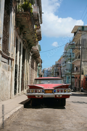 Türaufkleber Autos aus Kuba Picture of a old car in Cuba. Havana