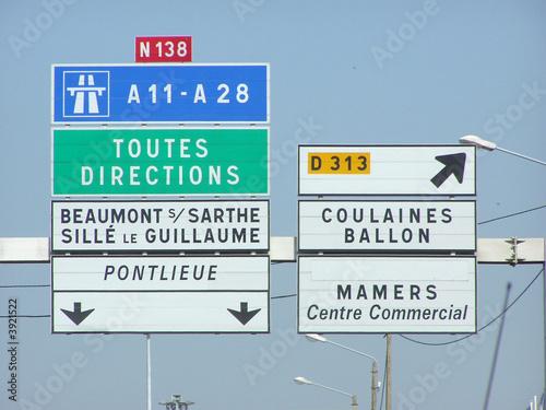 Photo  0929 - Panneaux de signalisation routière