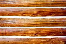 A Close Up Of A Log Home