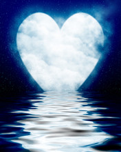 Heart Shaped Moon Reflected In...