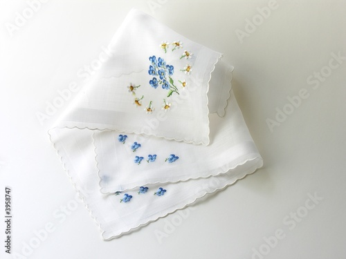 Photo batist handkerchiefs with embroideries