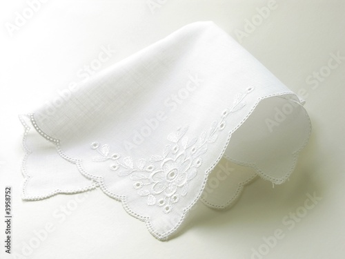 Photo white batist handkerchief