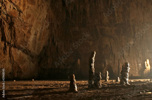 Canvas Print mysterious cave