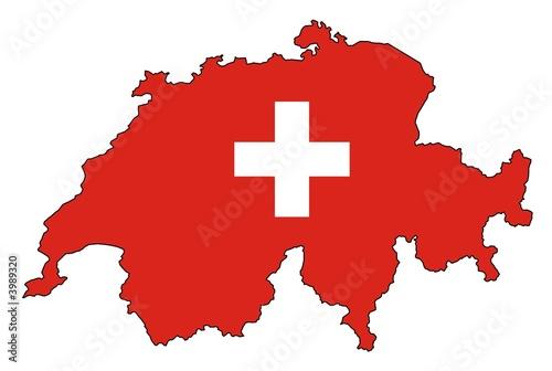 Valokuva  Schweiz Nationalfarben