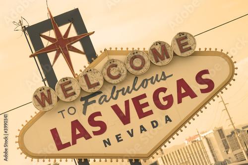Poster Las Vegas Las Vegas Sign Front Sepia