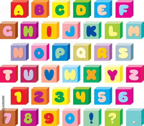 Foto-Stoff - Bricks font (von Alexey Bannykh)