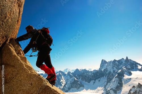 Poster de jardin Alpinisme Climber